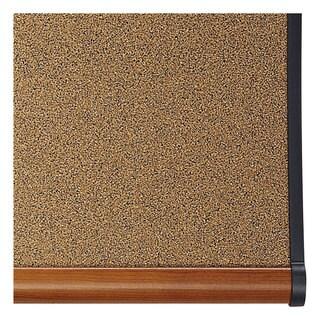 Quartet Prestige Bulletin Board, Brown Graphite-Blend Surface, 72 x 48, Cherry Frame