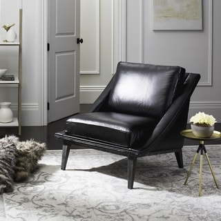 Safavieh Couture High Line Collection Hampden Black Leather Chair