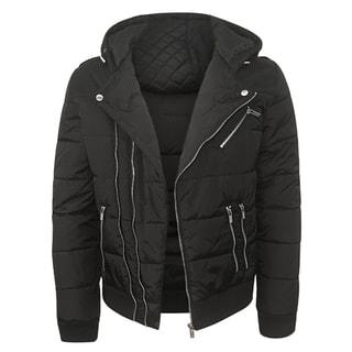 Repair Men's Black Nylon Quilted Jacket