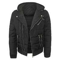 Repair Men's Black Nylon Quilted Jacket