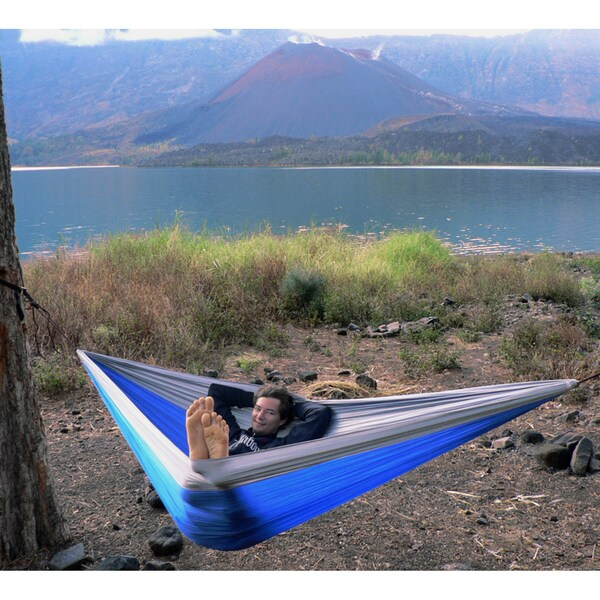 Hammock Bliss Triple - Blue/Silver