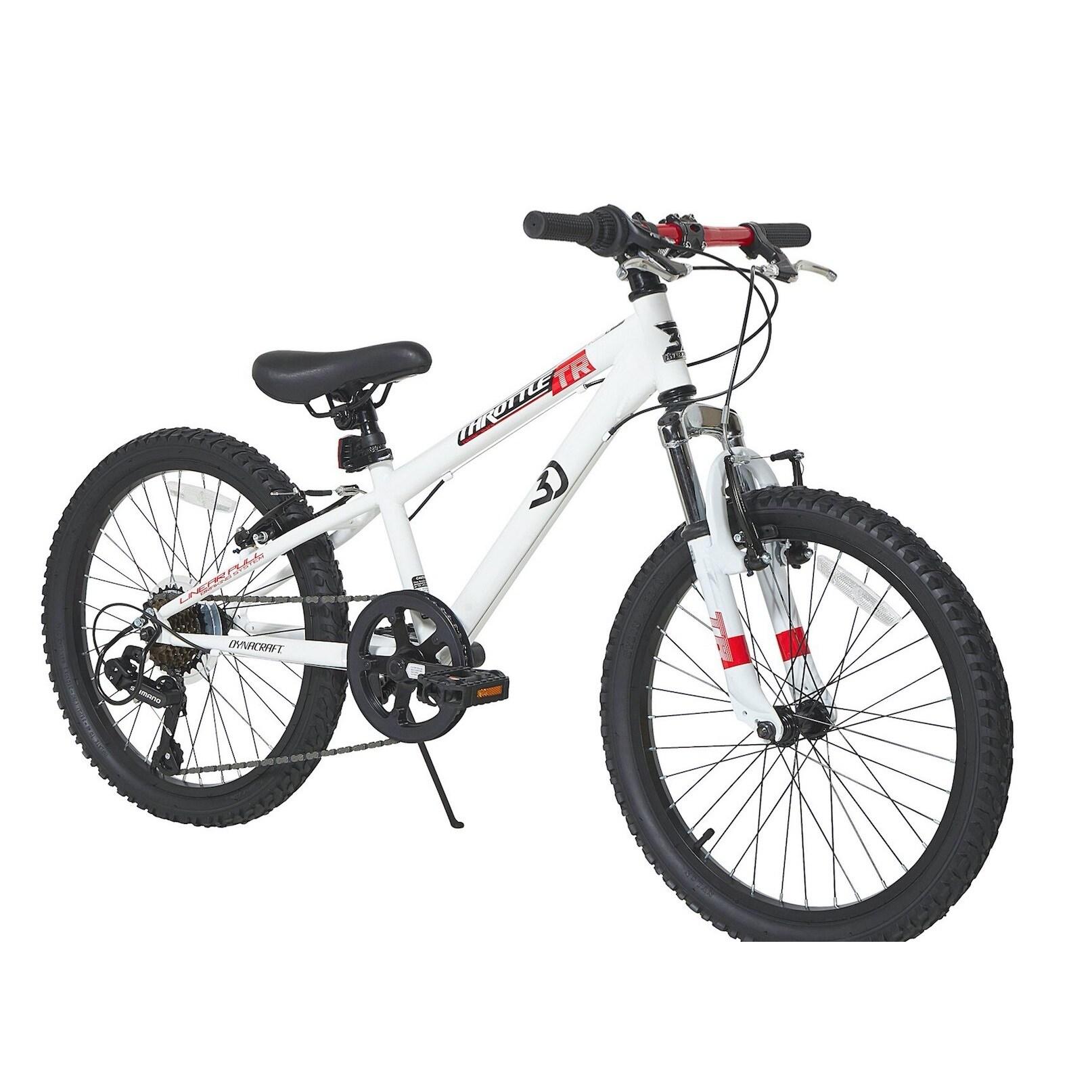 "Dynacraft 20-inch Throttle Bike (20""), White"