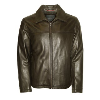 Tommy Hilfiger Men's Brown Cowhide Leather Jacket