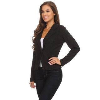 Women's Solid Embroidery Blazer Jacket