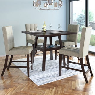 CorLiving Bistro 36-inch Counter Height Cappuccino Dining Set