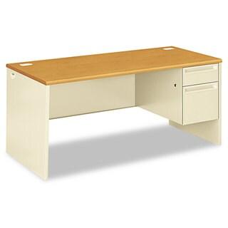 HON 38000 Series Right Pedestal Desk, 66w x 30d x 29-1/2h