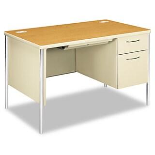 HON Mentor Series Single Pedestal Desk, 48w x 30d x 29-1/2h
