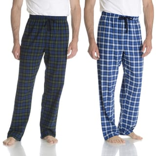 Hanes Men's Blue Plaid Flannel Lounge Pant 2-pack