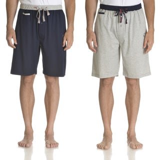 Ecko Unlimited Men's Navy/Heather Grey Cotton/Polyester Knit Sleep Shorts (2-pack)