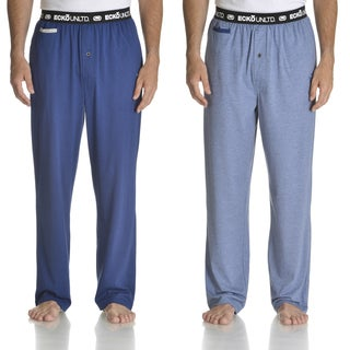 Ecko Unlimited Men's Blue/Dark Blue Knit Pant With Media Pocket 2-pack