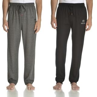 Ecko Unlimited Men's Black and Charcoal Grey Cotton Jersey Knit Solid Jogger Pant (Set of 2)