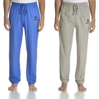 Ecko Unlimited Men's Blue and Grey Cotton Jersey Knit Solid Jogger Pant (Set of 2)