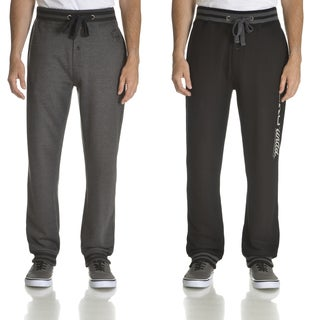 Ecko Unlimited Men's Black and Charcoal Grey 2-pack Fleece Jogger Pants