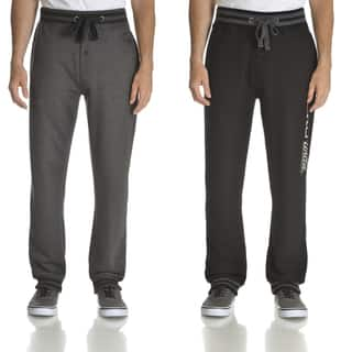 Ecko Unlimited Men's Black and Charcoal Grey 2-pack Fleece Jogger Pants|https://ak1.ostkcdn.com/images/products/13780591/P20432684.jpg?impolicy=medium