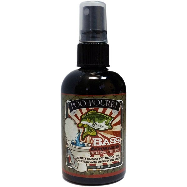 Shop poo pourri 4 ounce bass ackwards mountain air pine scent before you go toilet spray free for Poo pourri before you go bathroom spray