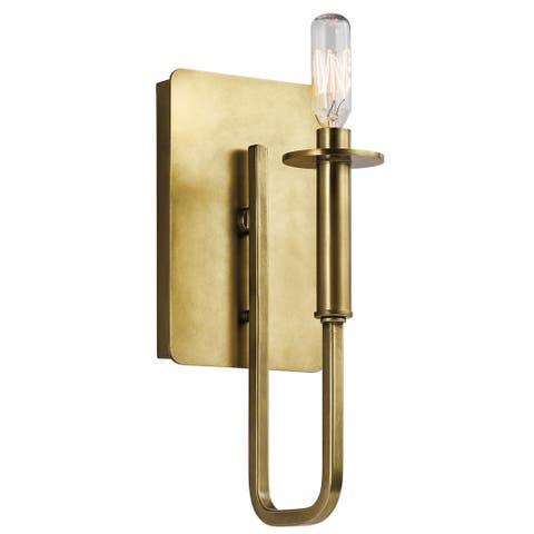 Kichler Lighting Alden Collection 1-light Natural Brass Wall Sconce