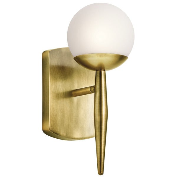 Kichler Lighting Jasper Collection 1-light Natural Brass Halogen Wall Sconce