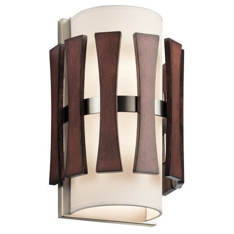 Kichler Lighting Cirus Collection 2-light Auburn Stained Finish Wall Sconce