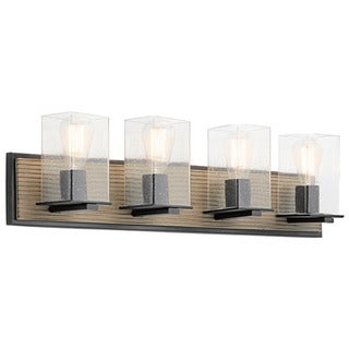 Kichler Lighting Millwright Collection 4-light Distressed Antique Grey Bath/Vanity Light