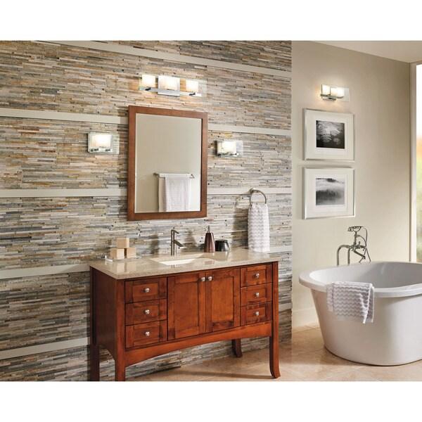 Halogen Bathroom Lights: Shop Kichler Lighting Como Collection 3-light Chrome
