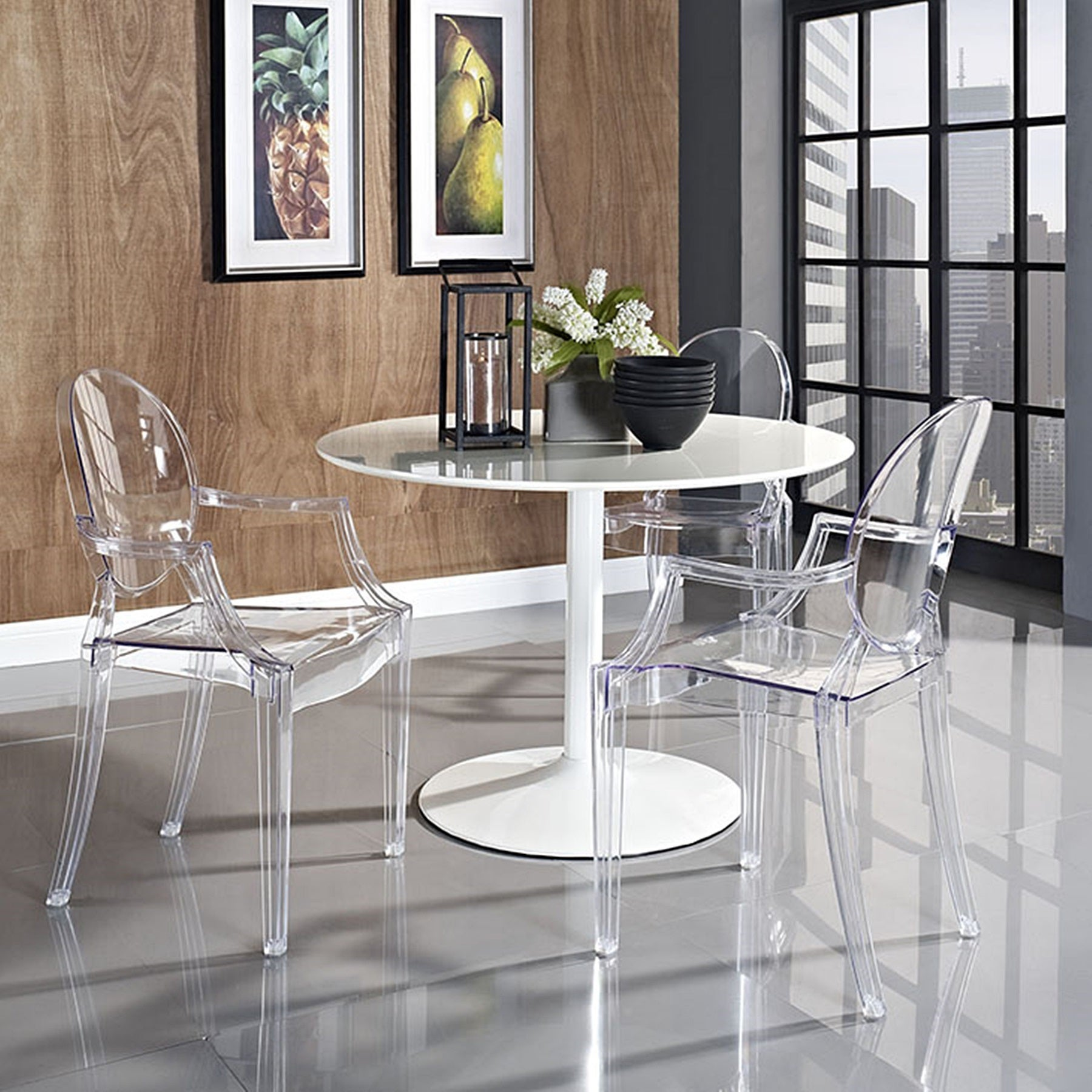 Olivia Classic Clear Dining Chairs On Sale Overstock 13780984