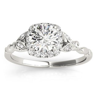 Transcendent Brilliance 14k White Gold Vintage Halo Diamond Engagement Ring (3/5 ct. TDW)(G, VS1-VS2)