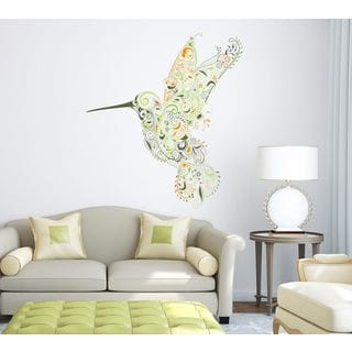 Bird Full Color Decal, Full color sticker, colored Bird Sticker Decal Size 22x30