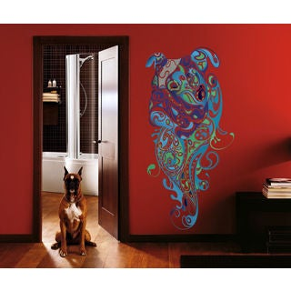 English bulldog Full Color Decal, Full color sticker, colored bulldog Sticker Decal size 48x76