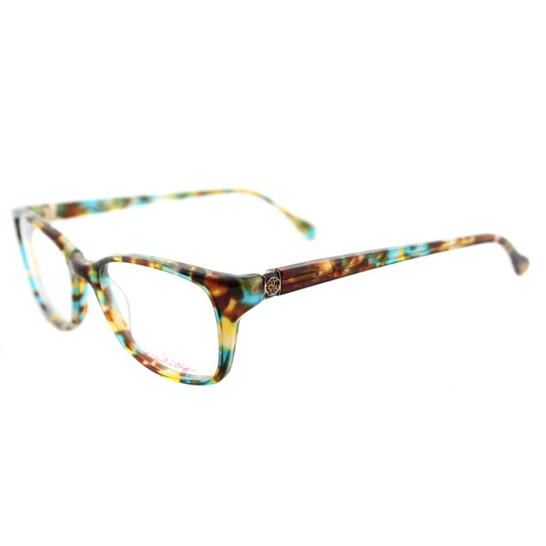 3582a3d67e2 Shop  Westley  Aqua Tortoise Rectangular Eyeglasses (51 mm) - Free ...