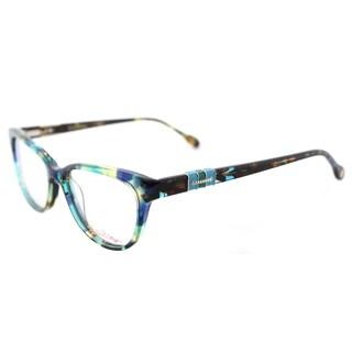 Lilly Pulitzer 'Captiva' Aqua Havana Cat-Eye Glasses (52 mm)