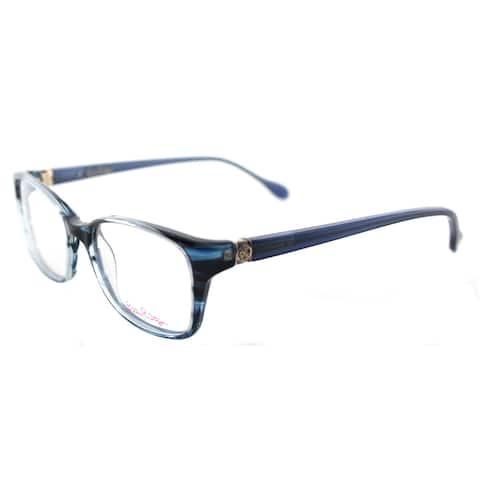 'Westley NV' Navy Havana Rectangular Eyeglasses (49 mm)