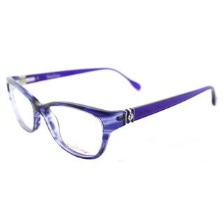 lilly pulitzer holbrook in indigo plastic cat eye 52mm eyeglasses