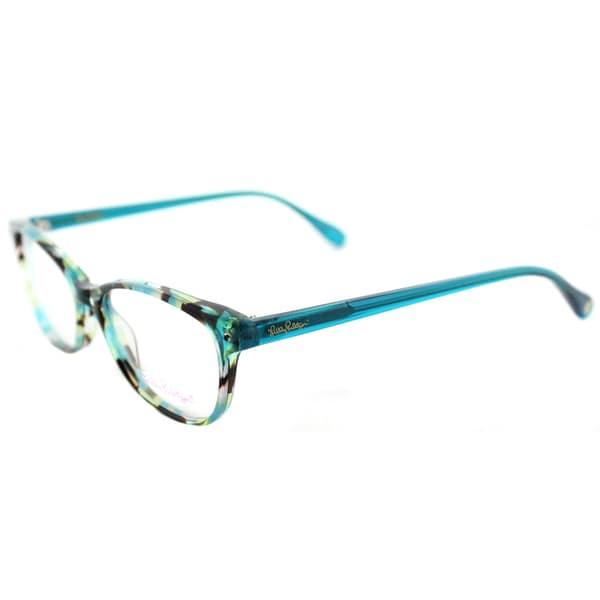 35894c5154 Shop Lilly Pulitzer  Brynn  Aqua Tortoise Cat-Eye Glasses (51 mm ...