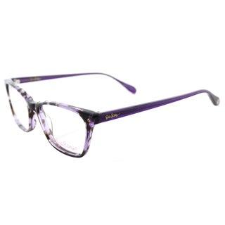 Lilly Pulitzer 'Whiting' Purple Tortoise Rectangular Eyeglasses (49 mm)