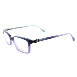Lilly Pulitzer 'Fulton' Navy and Lavender Rectangular Eyeglasses (50 mm)