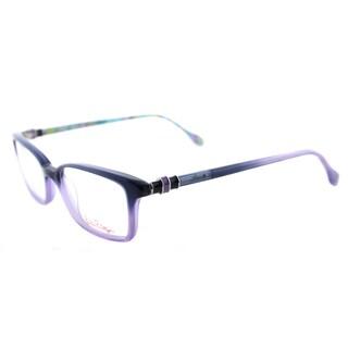 Lilly Pulitzer Fulton NV Navy/Lavender Plastic 52-millimeter Rectangle Eyeglasses