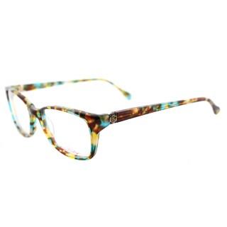Lilly Pulitzer 'Westley' Aqua Tortoise Rectangular Eyeglasses (49 mm)