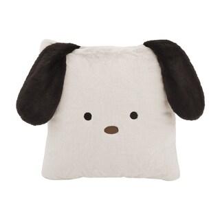 "Aurora Home Animal Plush Faux Fur 18-inch Throw Pillow (Option: Dog - 18"" Taupe)"