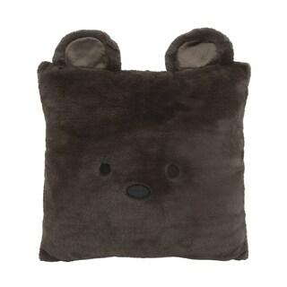 Aurora Home Animal Plush Faux Fur 18-inch Throw Pillow