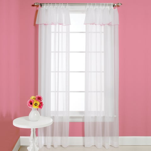 Saturday Knight Princess Curtain Panel Pair with Attached Valance