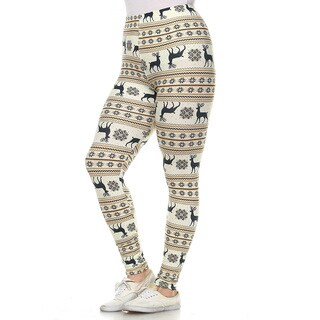 White Mark Women's Polyester and Spandex Plus Size Printed Leggings