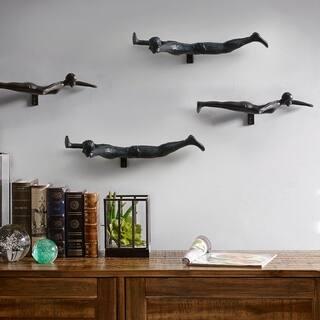 Carbon Loft Pawnee Dive Black Brass Swimmers (Set of 4)