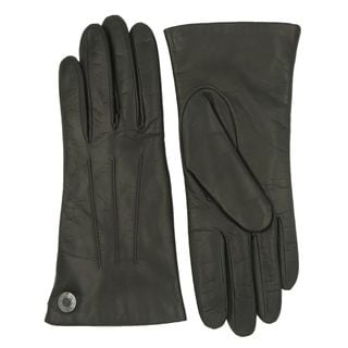 Coach Olive Leather Logo Gloves