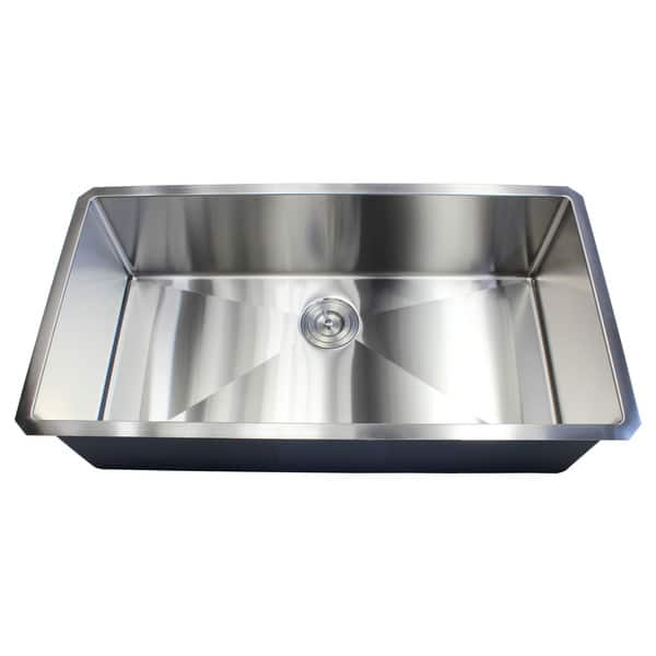 Shop Black Friday Deals On Ariel 36 Inch Stainless Steel Single Bowl 15mm Radius Undermount Kitchen Sink With Accessories Overstock 13784371