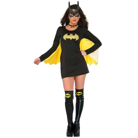 Batman Black and Yellow Cotton and Spandex Winged Dress