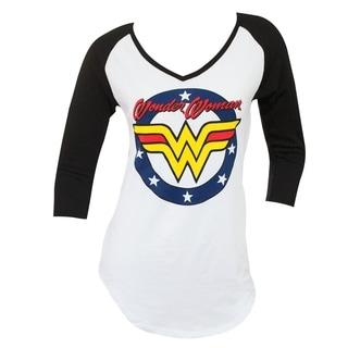 Wonder Woman Women's V-Neck Raglan Shirt