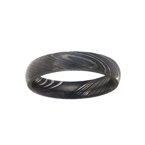 5MM Damascus Steel Ring For Men