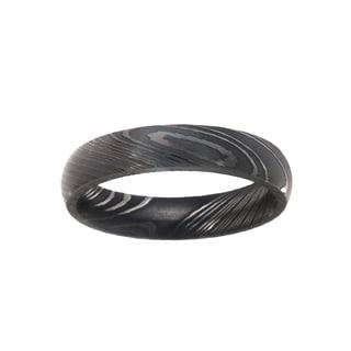 5MM Damascus Steel Ring For Men