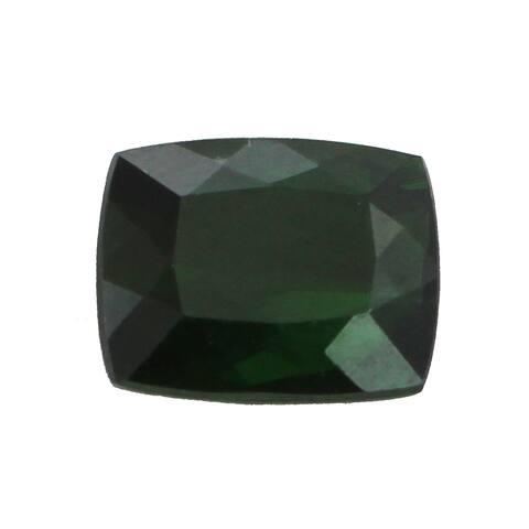 Loose Cushion Cut Green Tourmaline 11.8x9.8mm 6.7ct Gemstone