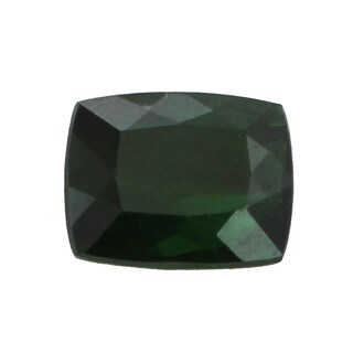Loose Cushion Cut Green Tourmaline 11.8x9.8mm 6.7ct Gemstone